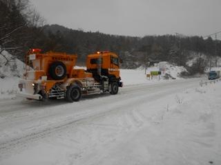国道49号線の除雪作業を実施