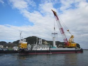 江名港・中野作港灯台設置作業2019年11月05