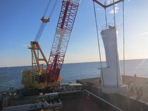 江名港・中野作港灯台設置作業2019年11月11