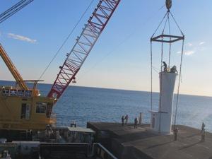 江名港・中野作港灯台設置作業2019年11月13