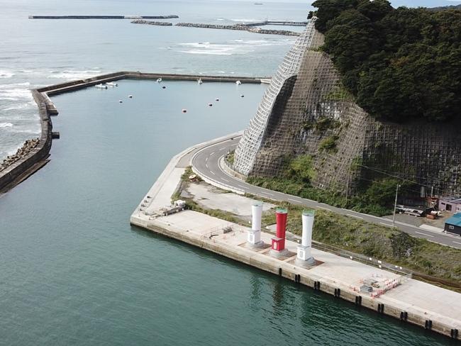 江名港・中野作港灯台 2019年11月に新設した三基の灯台